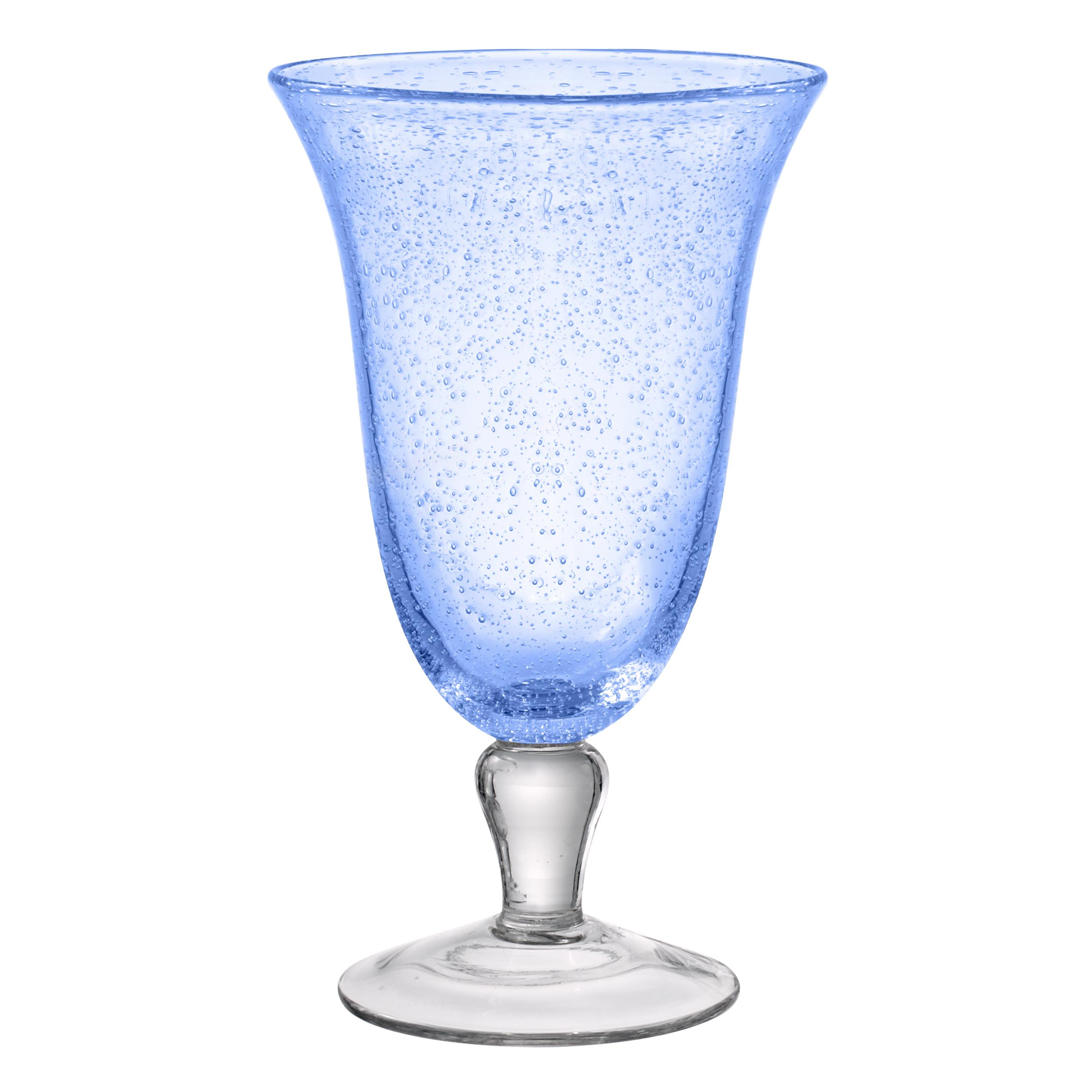 Artland Iris Light Blue 18 Ounce Footed Ice Tea Glass