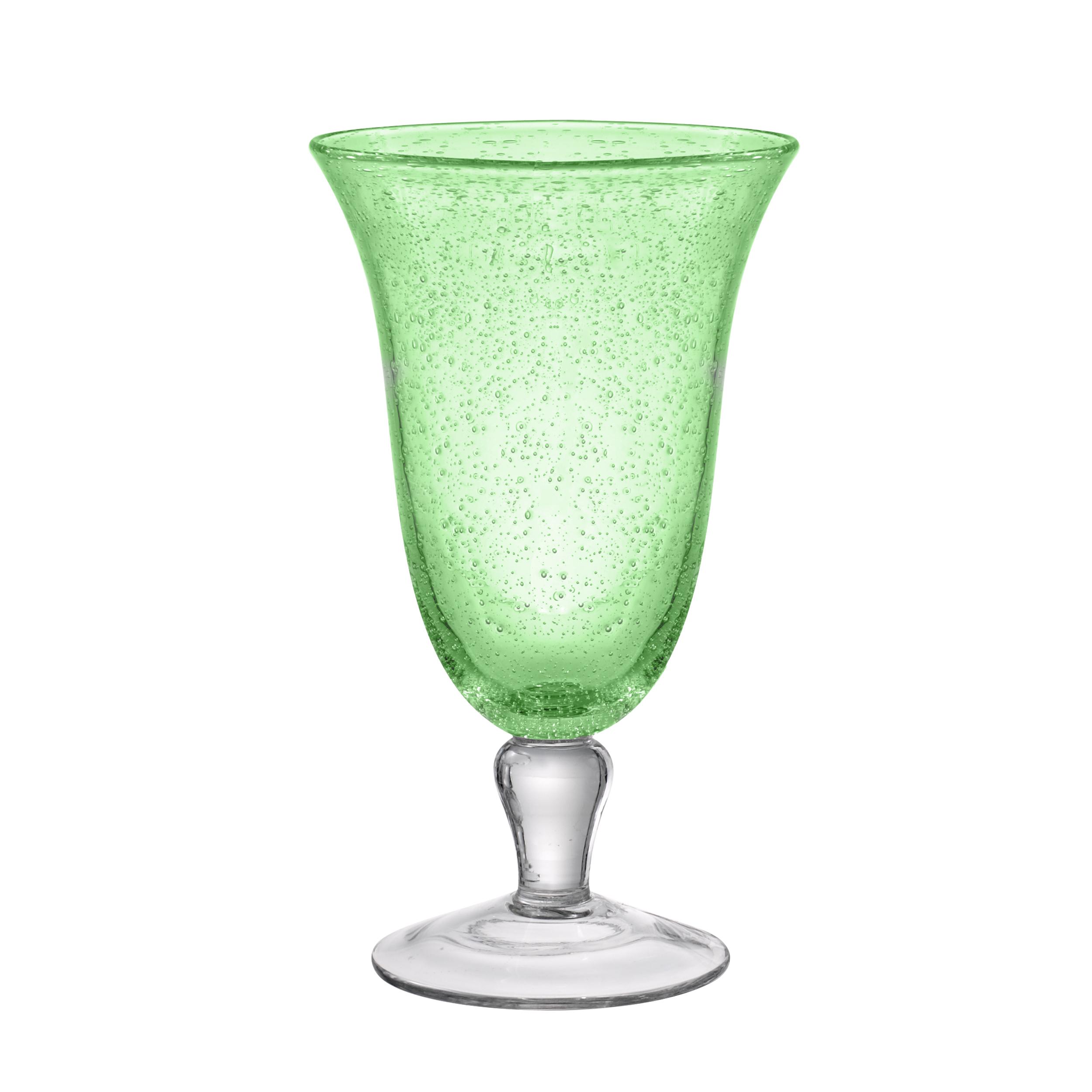 Artland Iris Light Green 18 Ounce Footed Iced Tea Glass