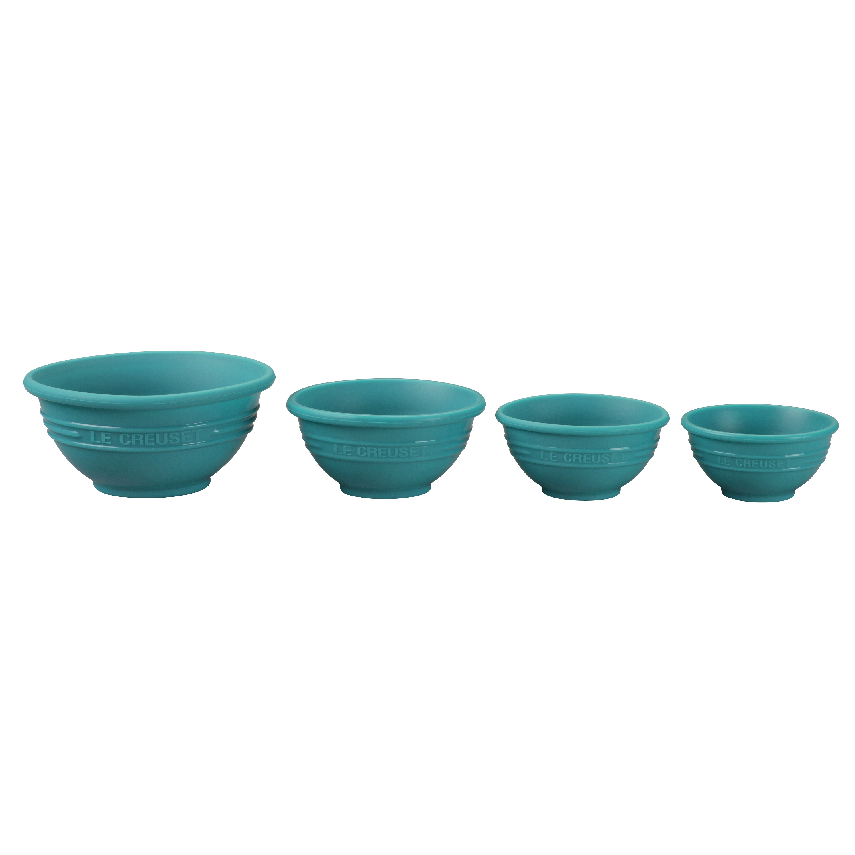 Le Creuset Caribbean Silicone 4 Piece Prep Bowl Set