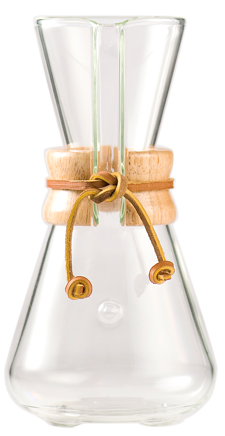 Chemex Hand Blown Glass Coffee Maker with Wood Collar and Tie, 15 Ounce