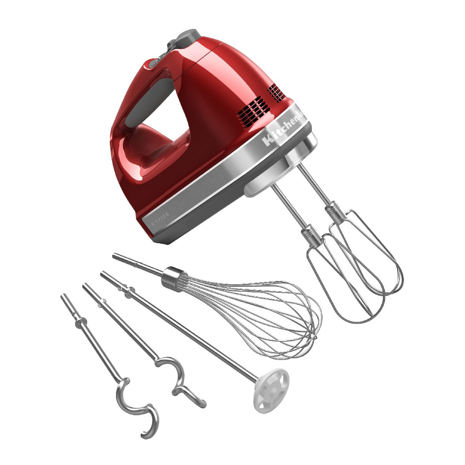 KitchenAid Candy Apple Red 9 Speed Hand Mixer