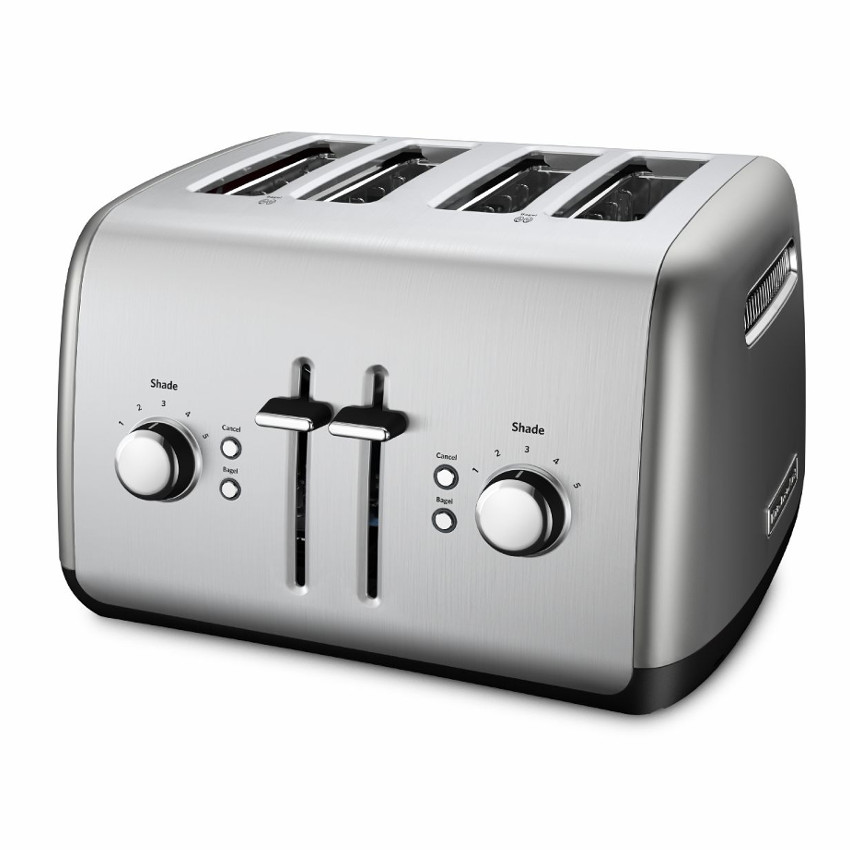 4-Slice Toaster with Manual High-Lift Lever Contour Silver