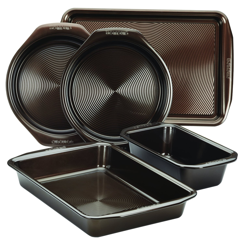Circulon Symmetry Bakeware Chocolate 5 Piece Bakeware Set