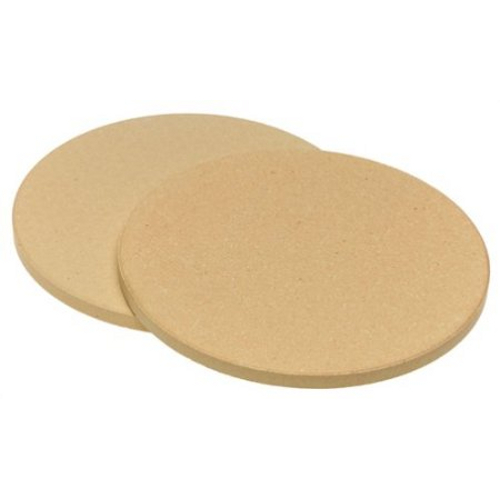 Kitchen Supply Old Stone 8.5 Inch Ceramic Pizza Stone, Set of 2