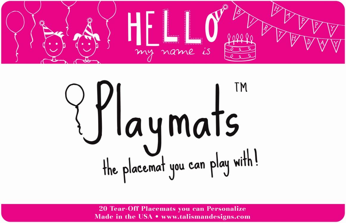 Talisman Designs Playmats Birthday Girl Placemat Pad