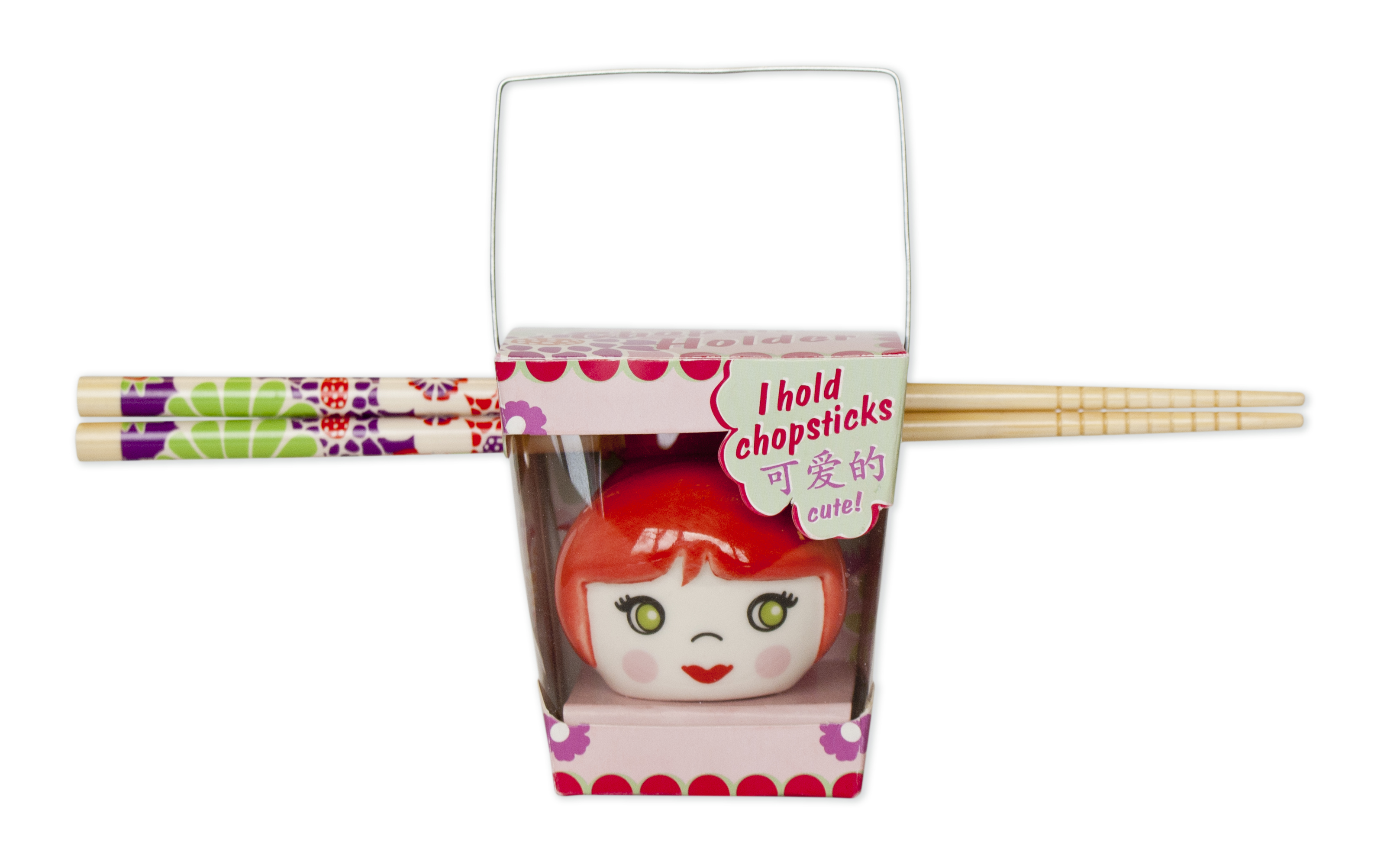 Talisman Designs Cutie Pie Red Chopstick Holder