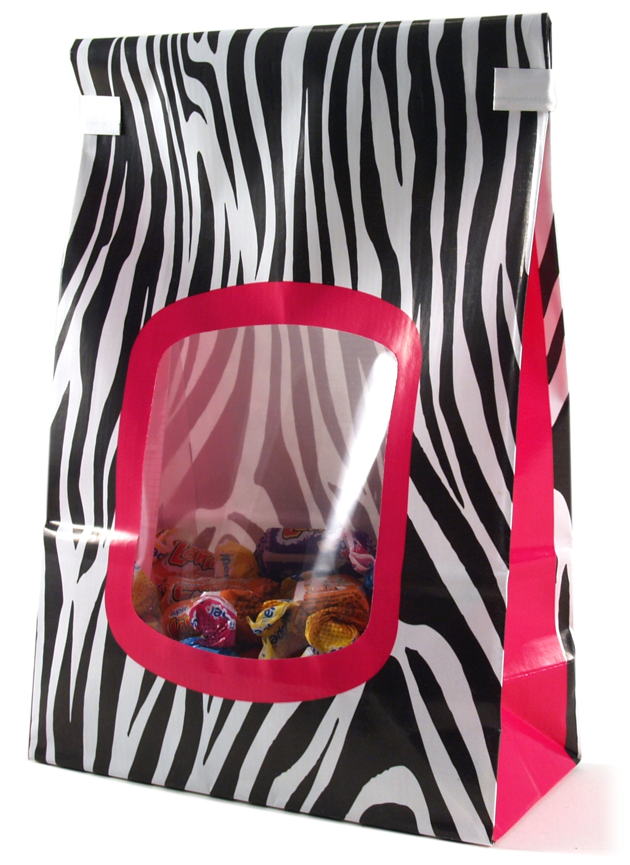 Siege Cupcake Creations Pink Zebra Cookie and Treat Bag, Set of 4