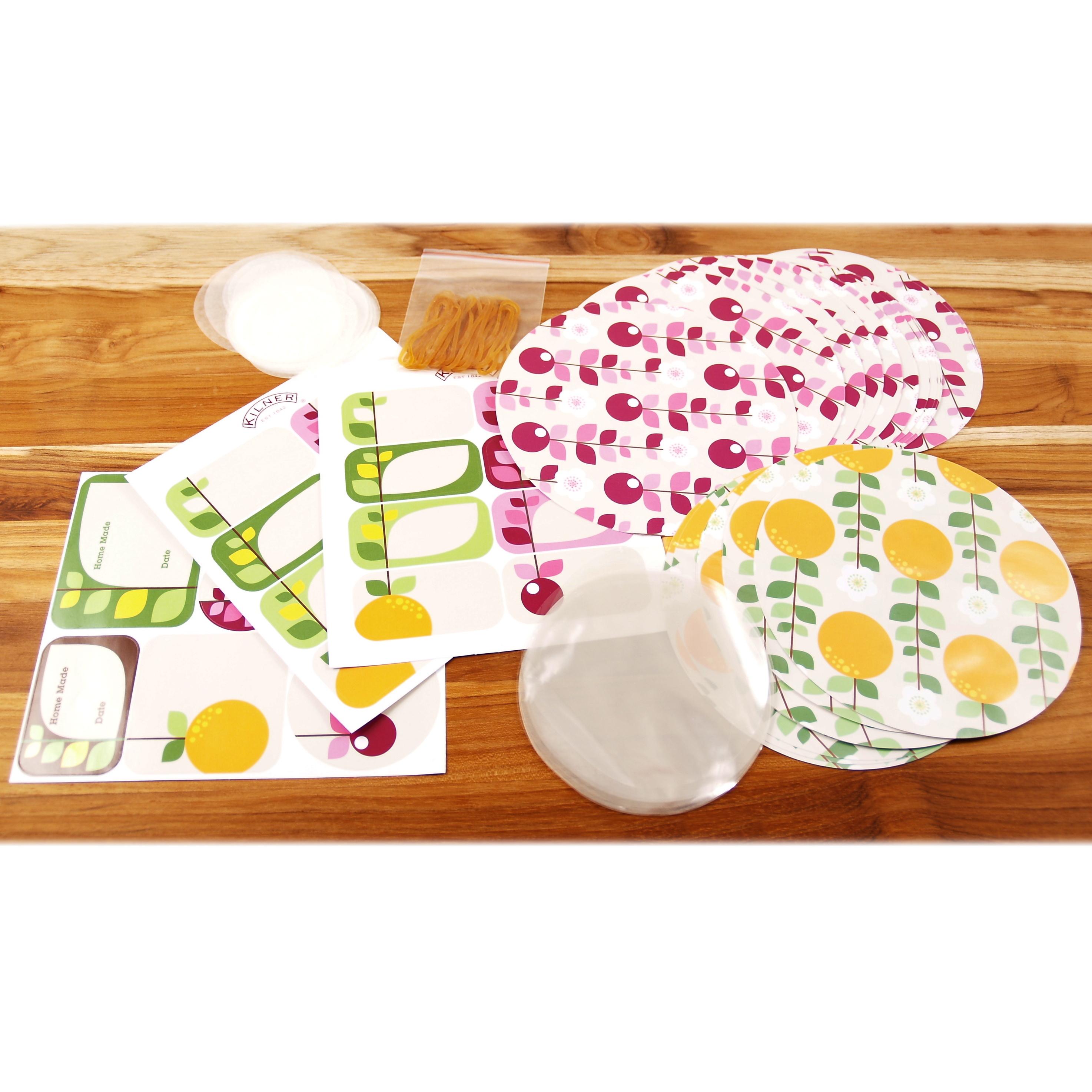 Kilner 108 Piece Fruit Blossom Jam Jar Sealing Set
