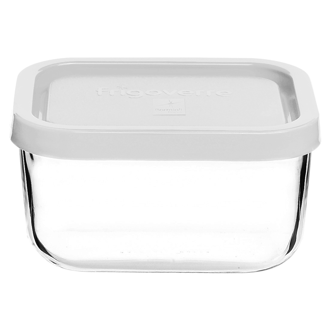 Bormioli Rocco Frigoverre 13.5 Ounce Rectangular Container with Frosted White Lid