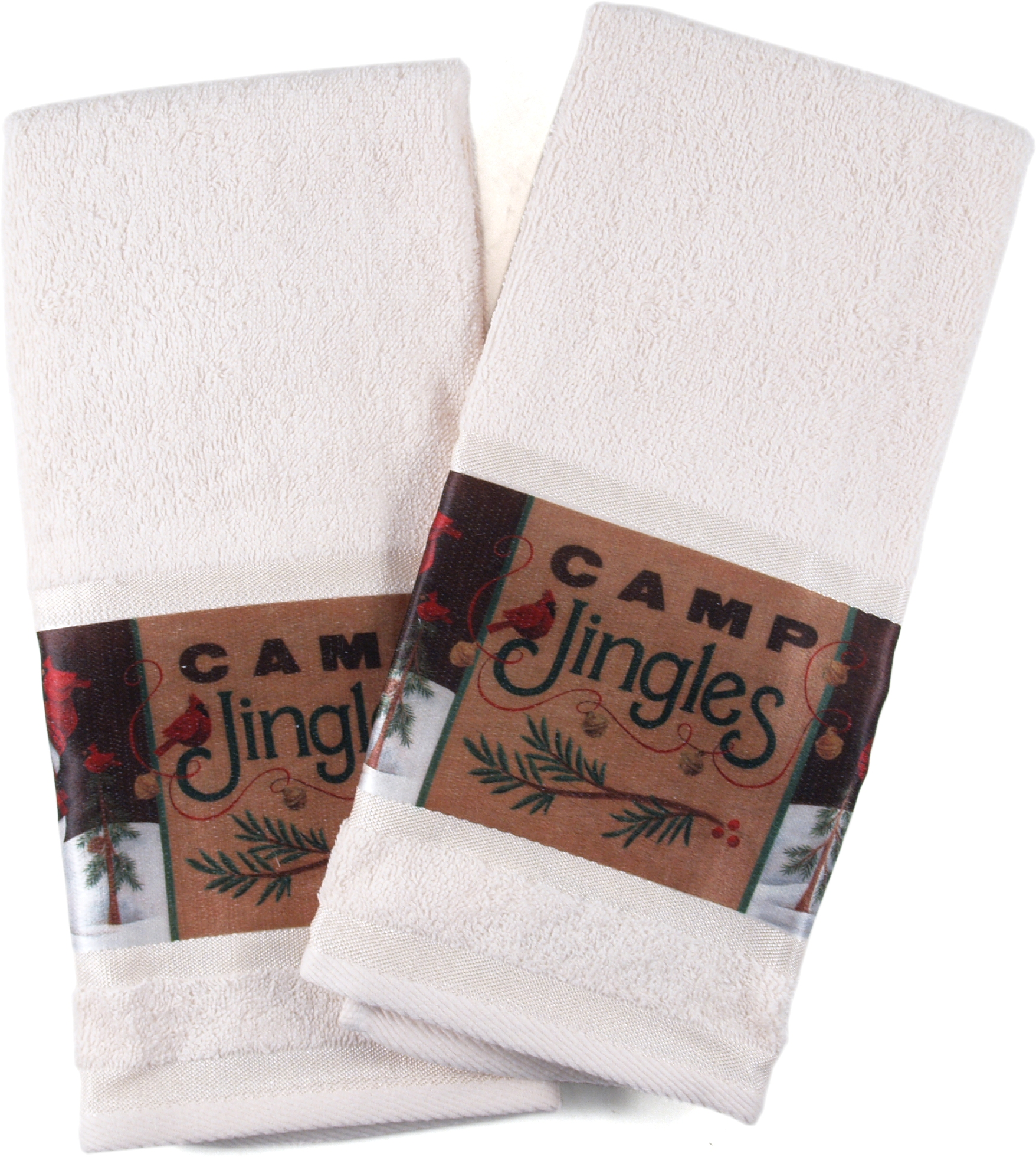 Camp Jingles Hand Towel, Set of 4
