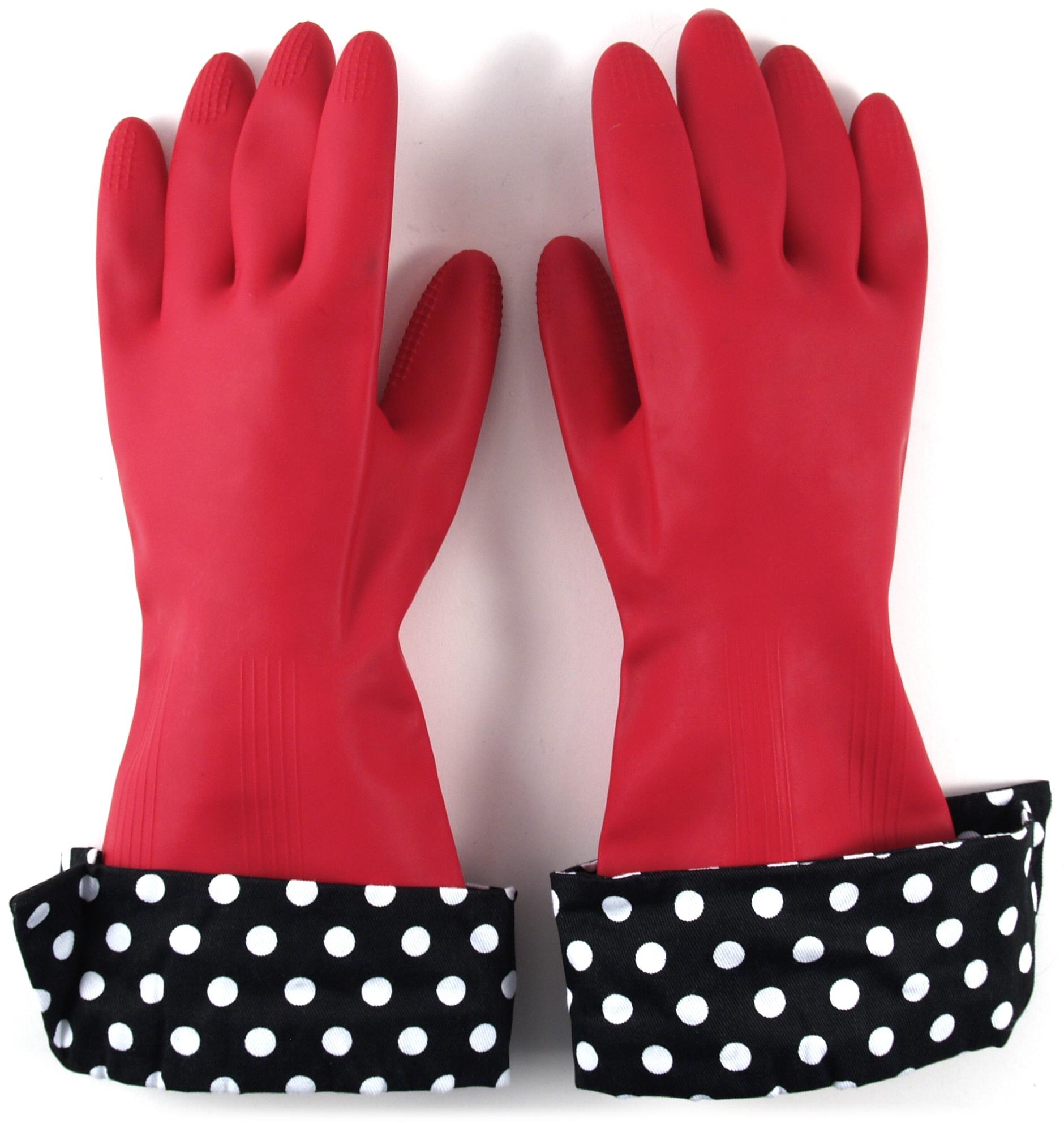 Julie's Signature Latex Gloves with Designer Cuffs, 2 Pairs