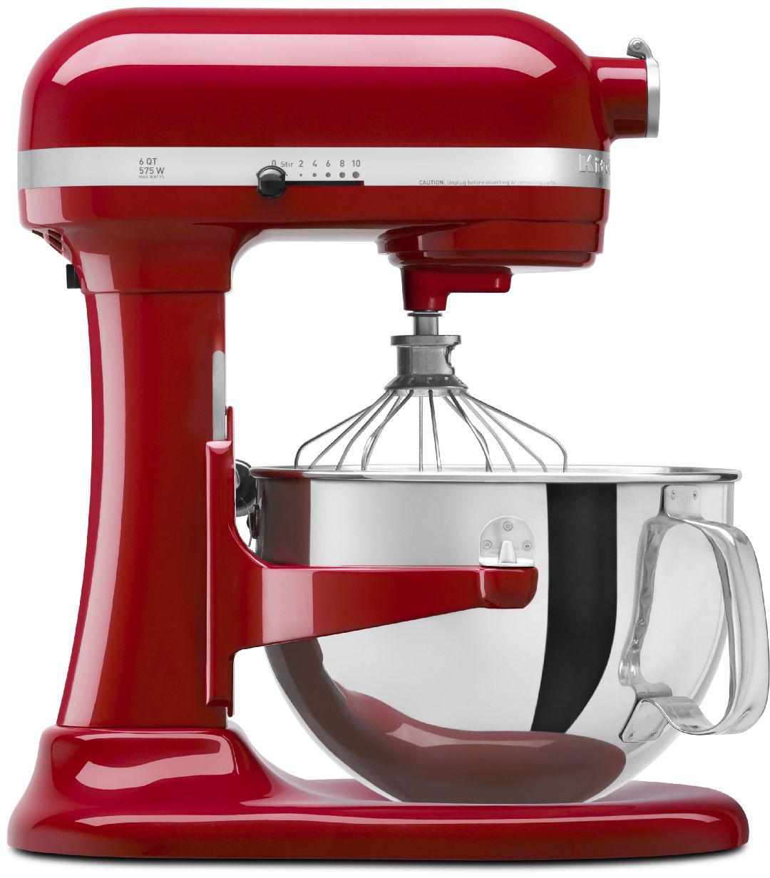 KitchenAid Professional 600 Series Empire Red Bowl Lift Stand Mixer, 6 Quart