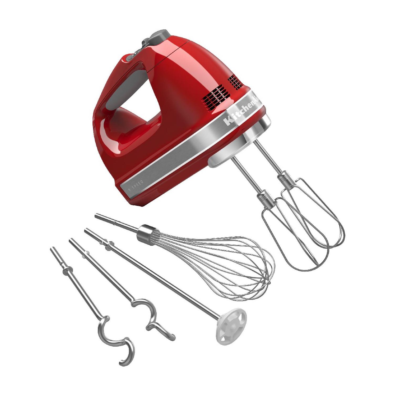 KitchenAid Empire Red 9 Speed Hand Mixer