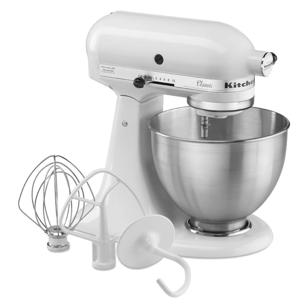 KitchenAid Classic Series White 4.5 Quart Tilt Head Stand Mixer