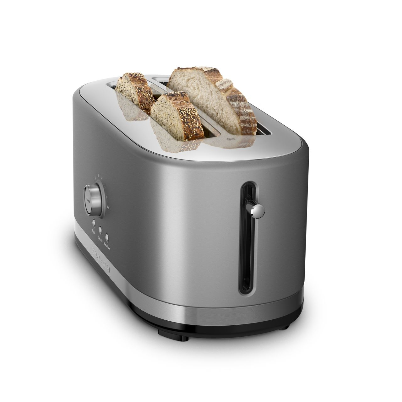 KitchenAid Contour Silver 4-Slice Long Slot Toaster with High Lift Lever