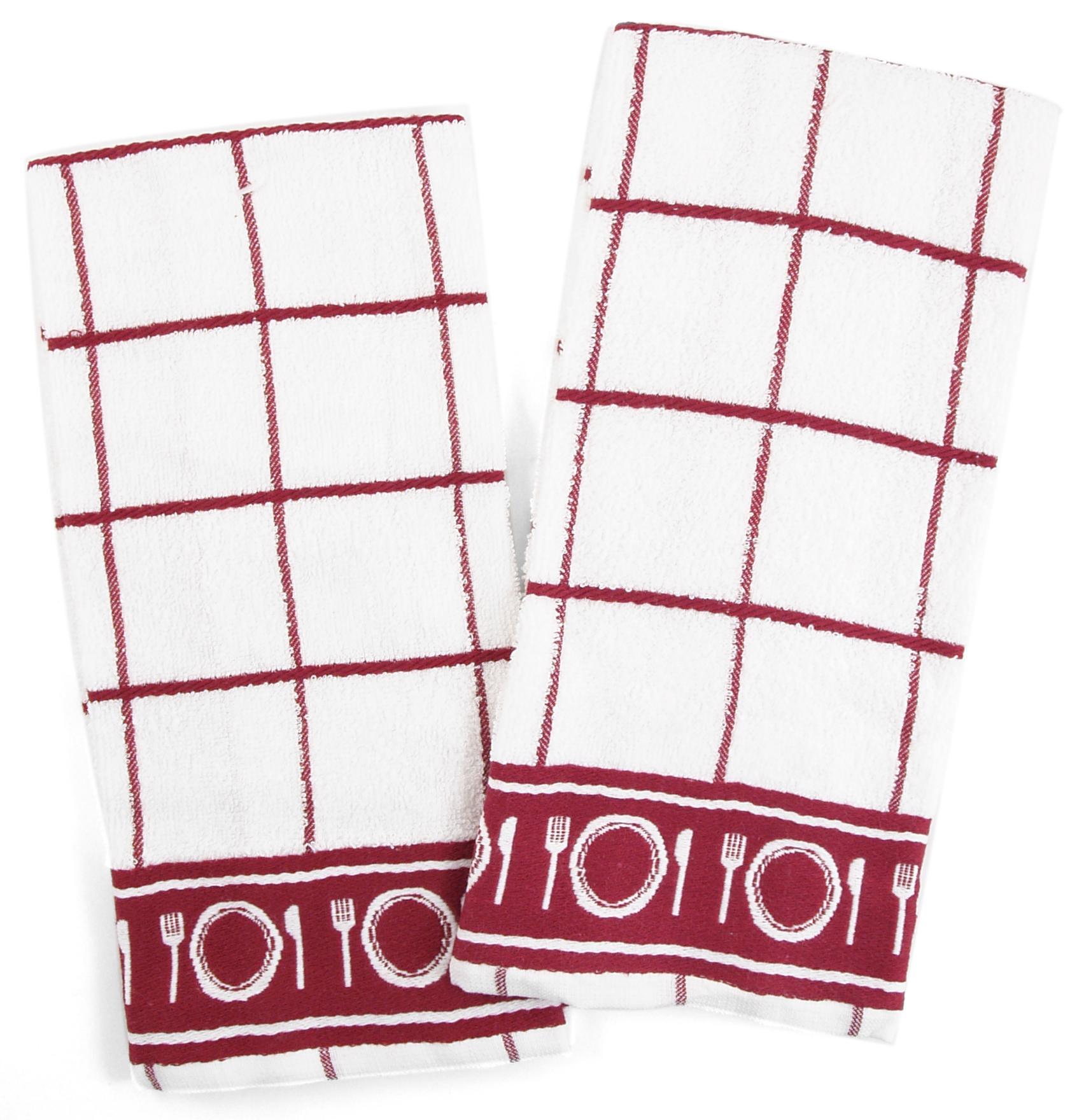 Checkerboard Untensils Kitchen Towel - Set of 6