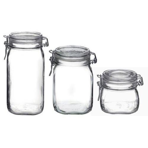 Bormioli Rocco Fido 3 Piece Glass Jar Set
