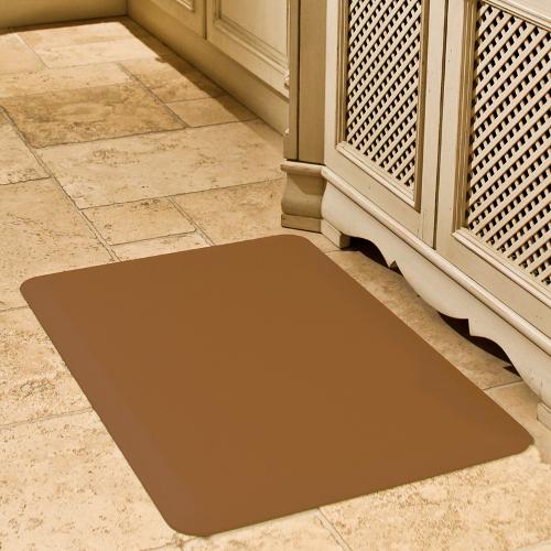 WellnessMats Tan Standard Anti-Fatigue Mat, 3 x 2 Foot