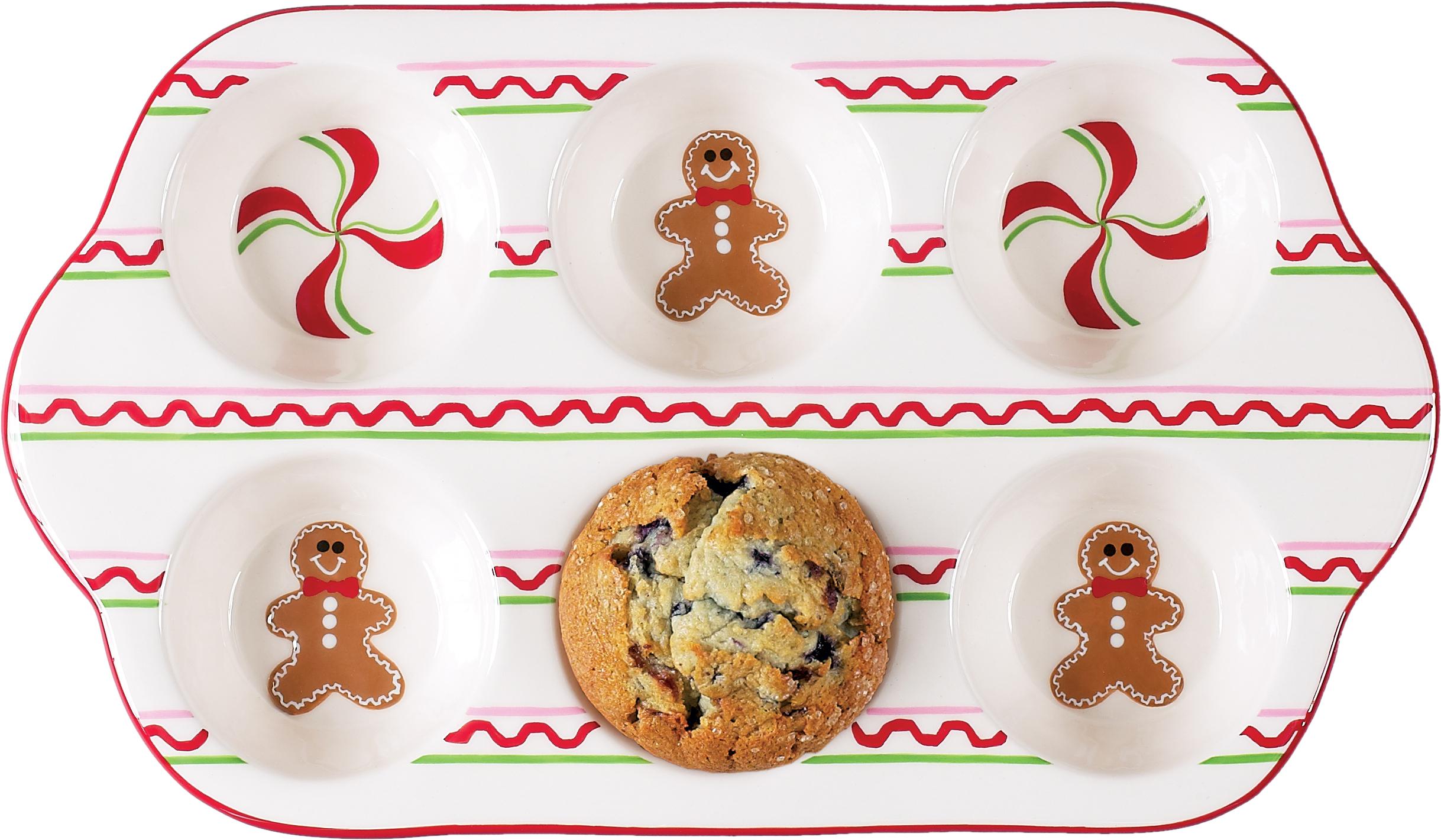 Boston Warehouse Sugar and Spice 6 Cup Muffin Baking Pan