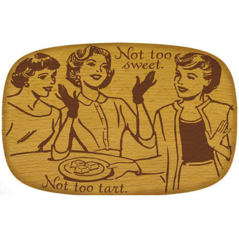 Talisman Designs Pop Art Sweet Beechwood Cheese Board