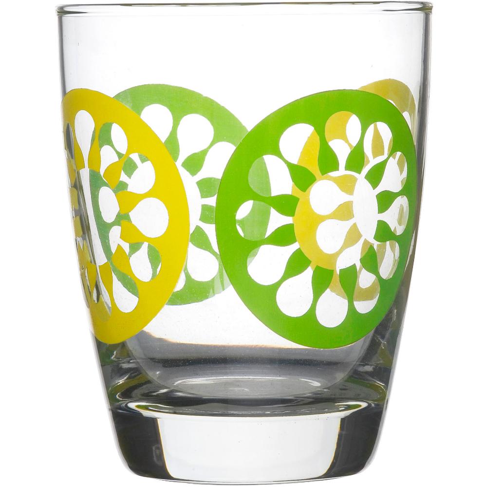 Sagaform Juicy 12.75 Ounces Green Drinking Glasses, Set of 4