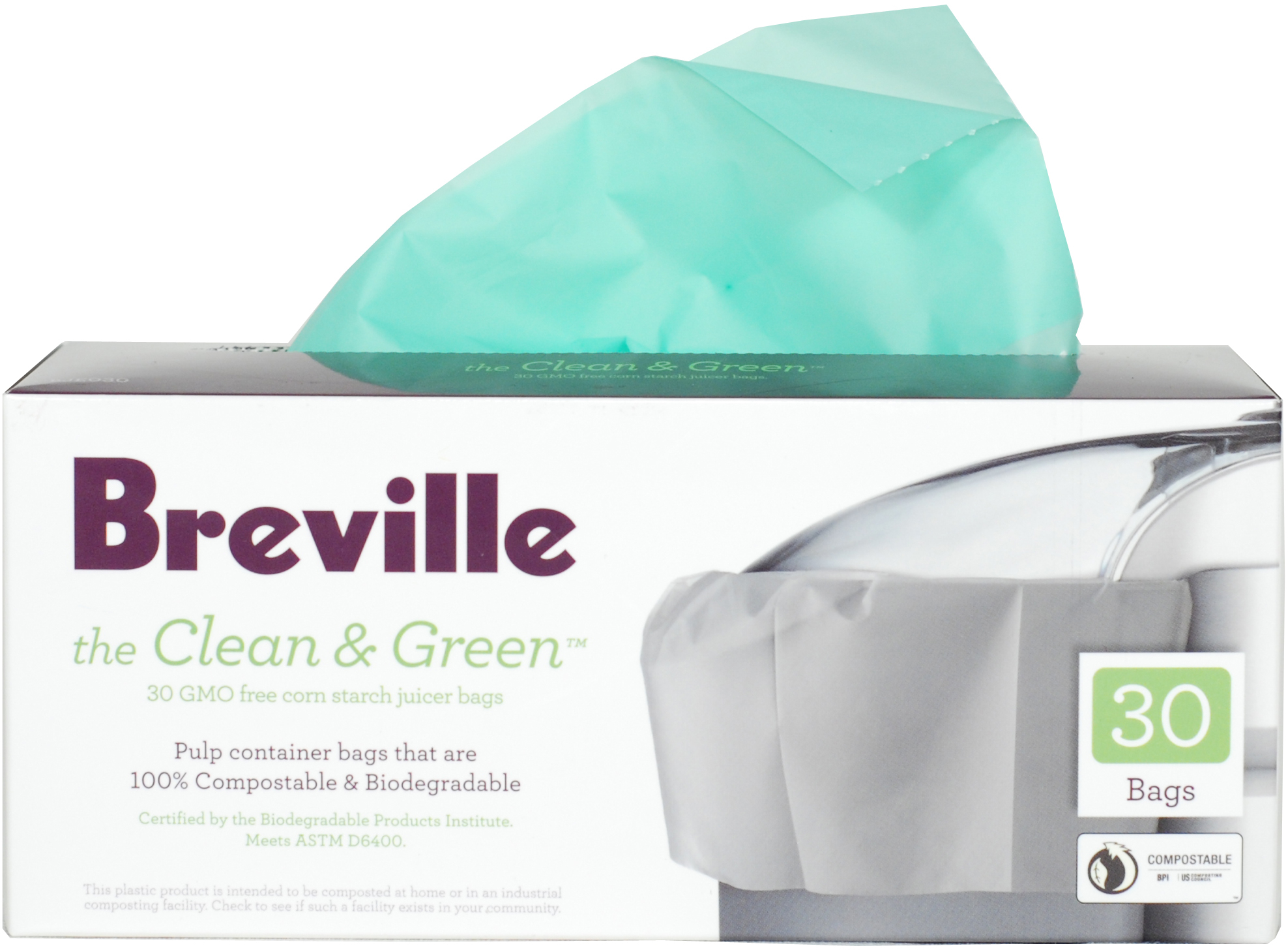 Breville Die-Cast Steel Juice Fountain Elite with Free Pulp Container Bags