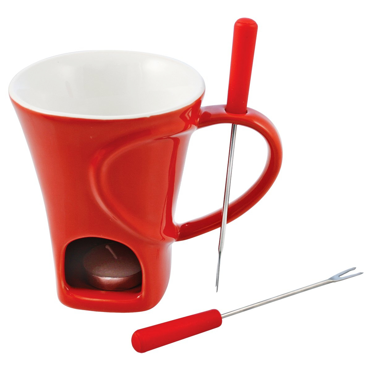 Swissmar Sweetheart 4 Piece Chocolate Fondue Mug Set
