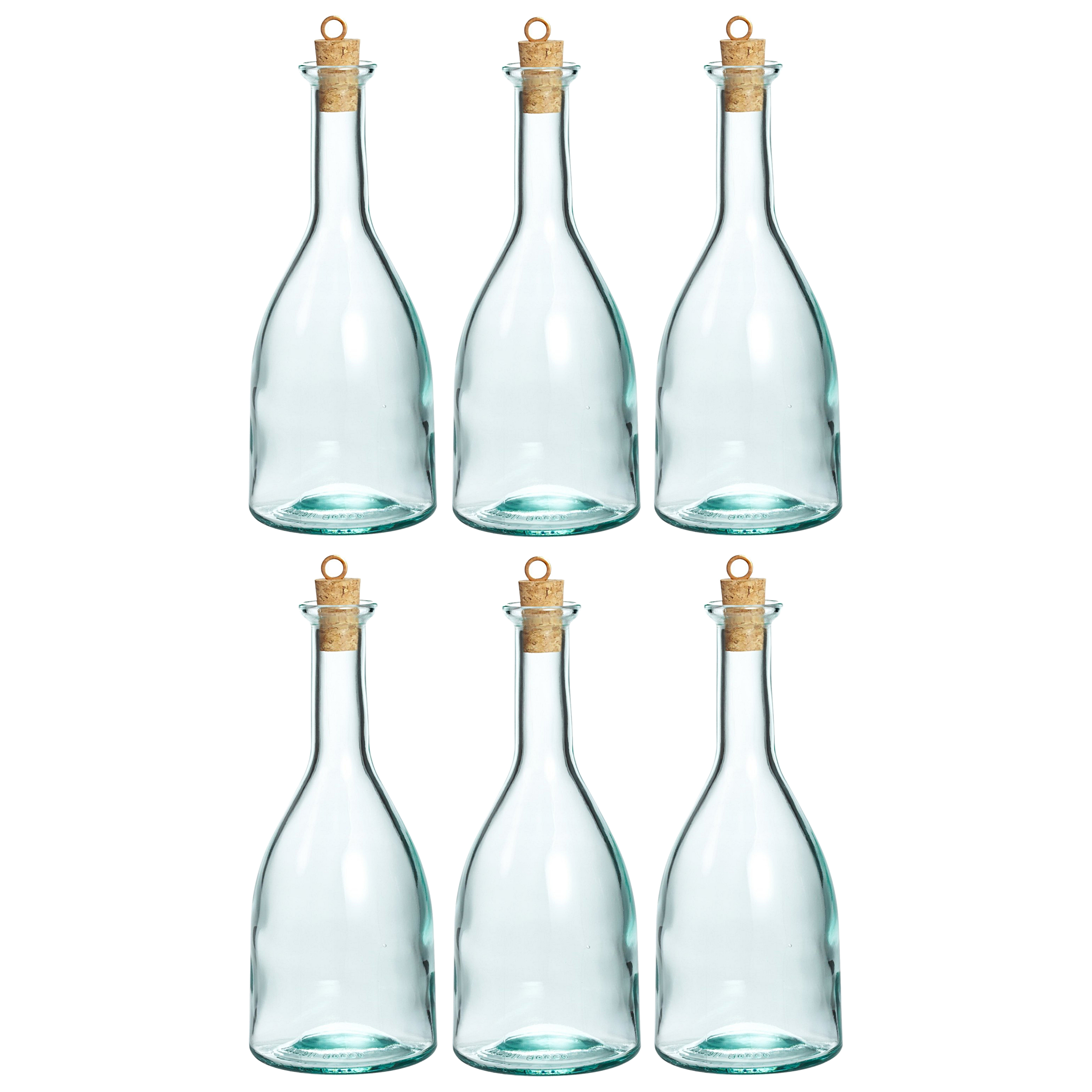 Bormioli Rocco Country Home Glass 17 Ounce Gotica Bottle, Set of 6