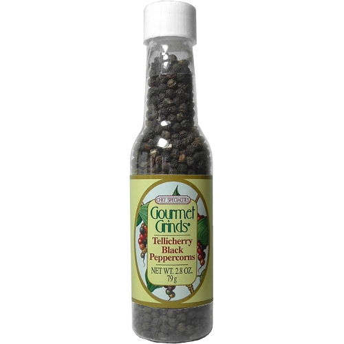 Chef Specialties Tellicherry Black Peppercorns, 2.8 Ounces