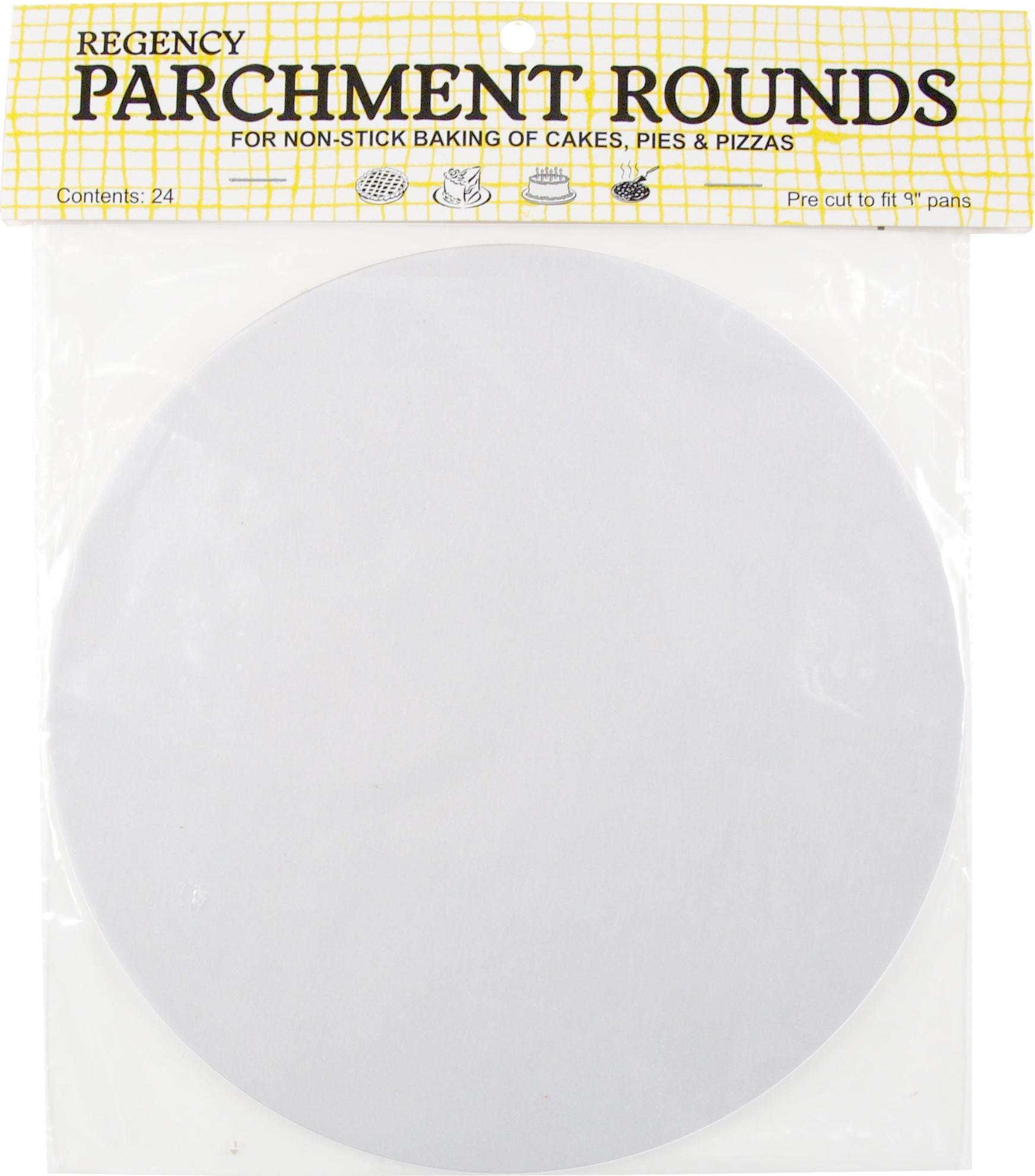 Regency 9 Inch Precut Parchment Round, Set of 24
