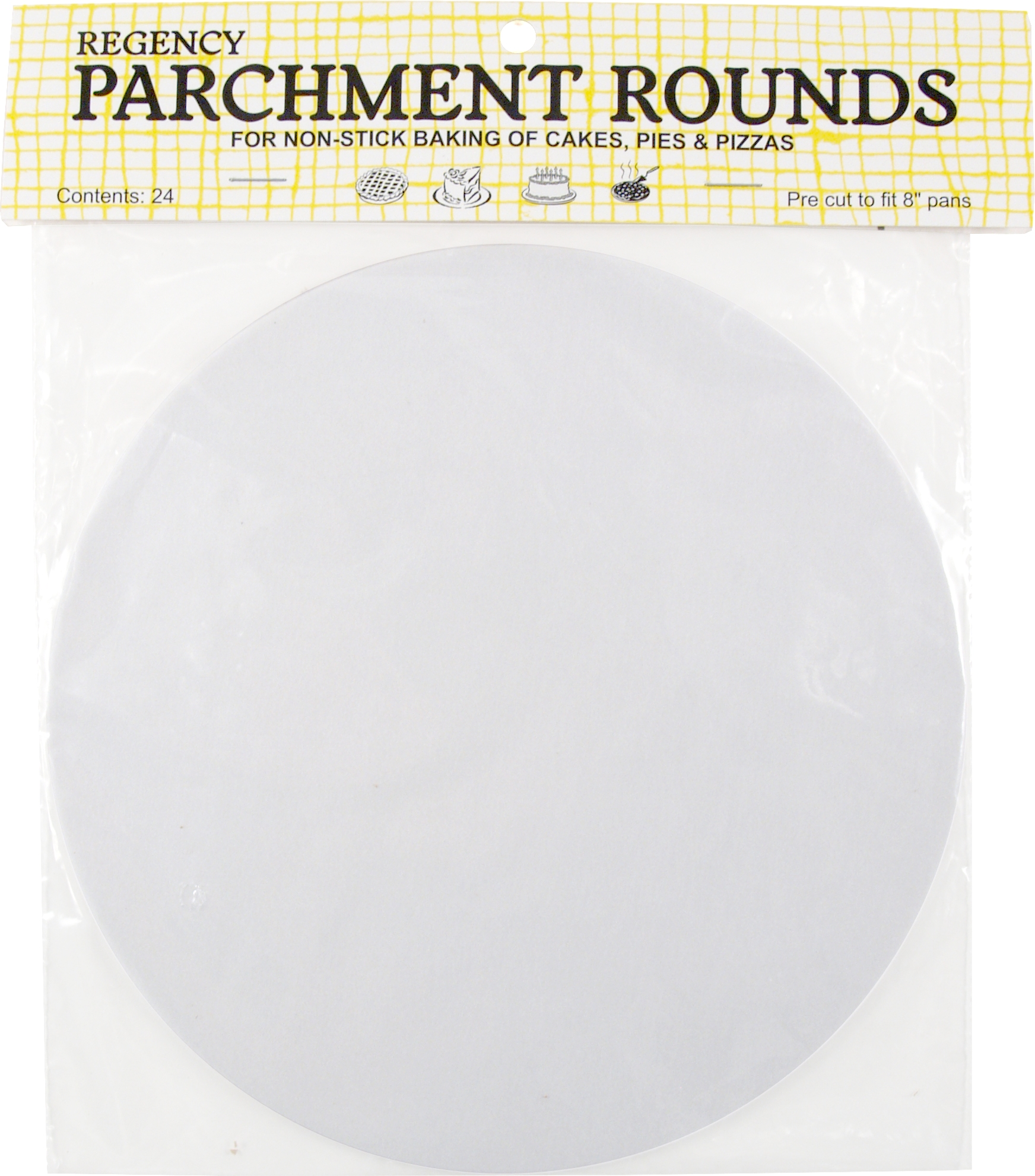 Regency 8 Inch Precut Parchment Round, Set of 24