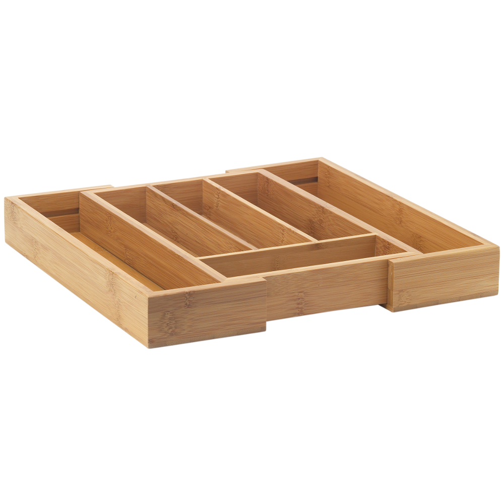 Helen Chen Asian Kitchen Expandable Bamboo Drawer Organizer