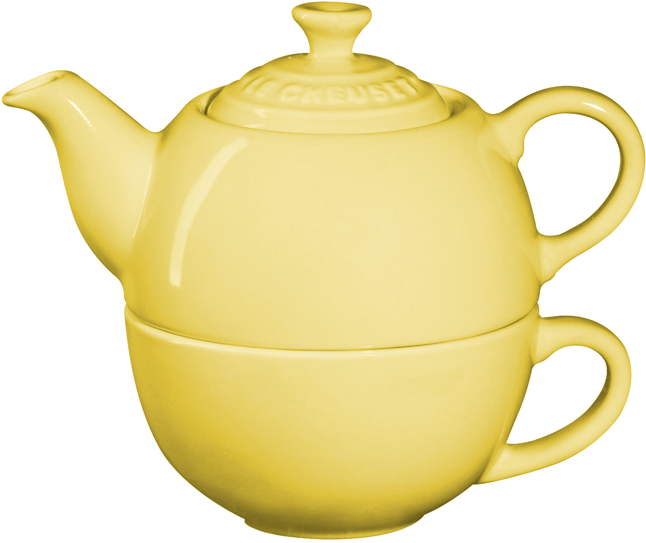 Le Creuset Soleil Yellow Stoneware Tea for One