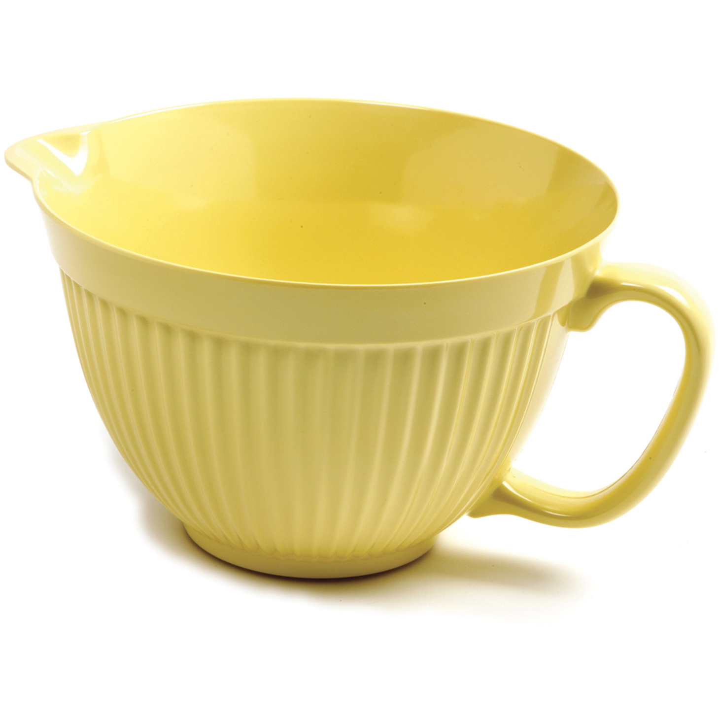 Norpro Grip-EZ Lemon Yellow Melamine Batter Mixing Bowl, 5 Quart