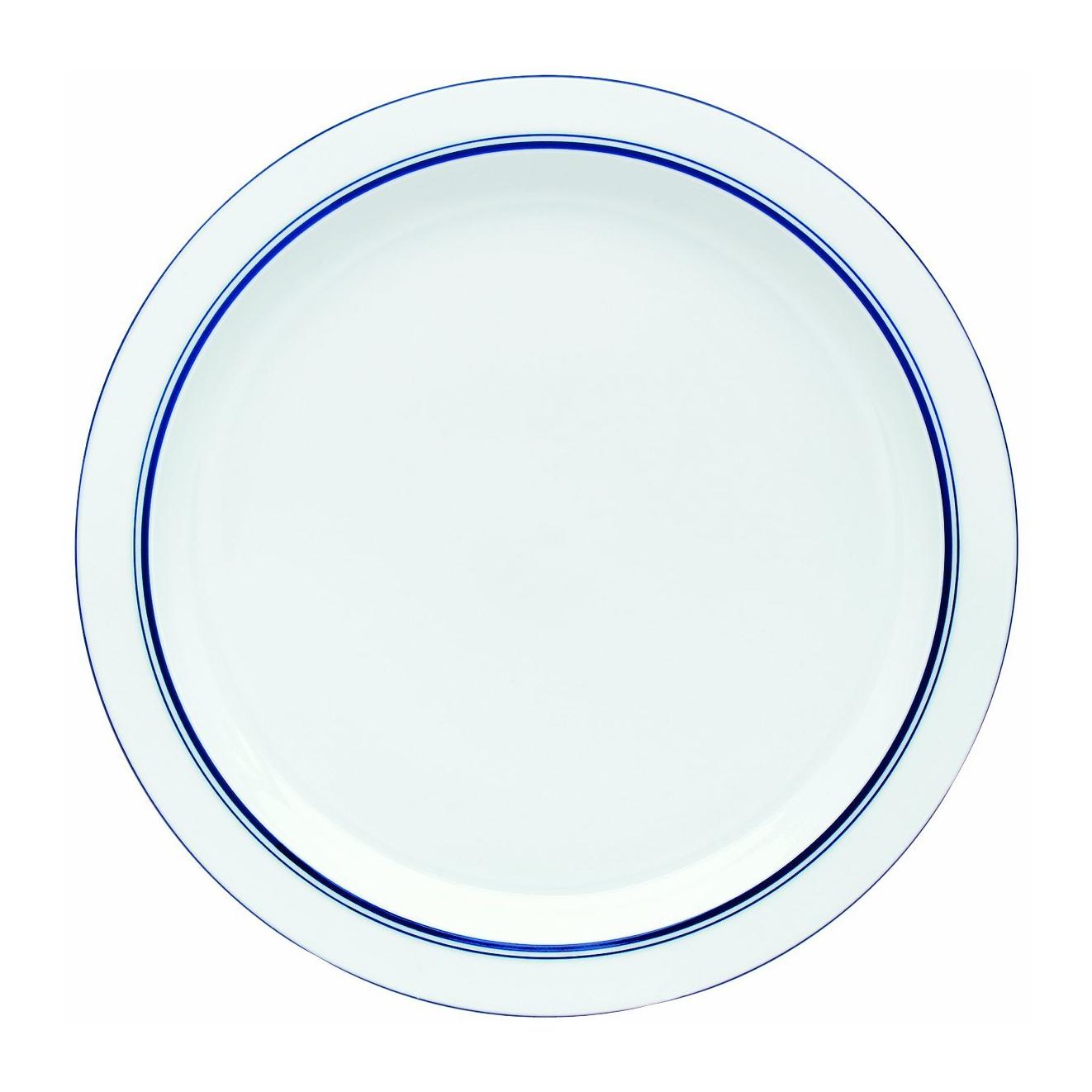Dansk Christianshavn Blue Porcelain Round Platter, 13 Inch