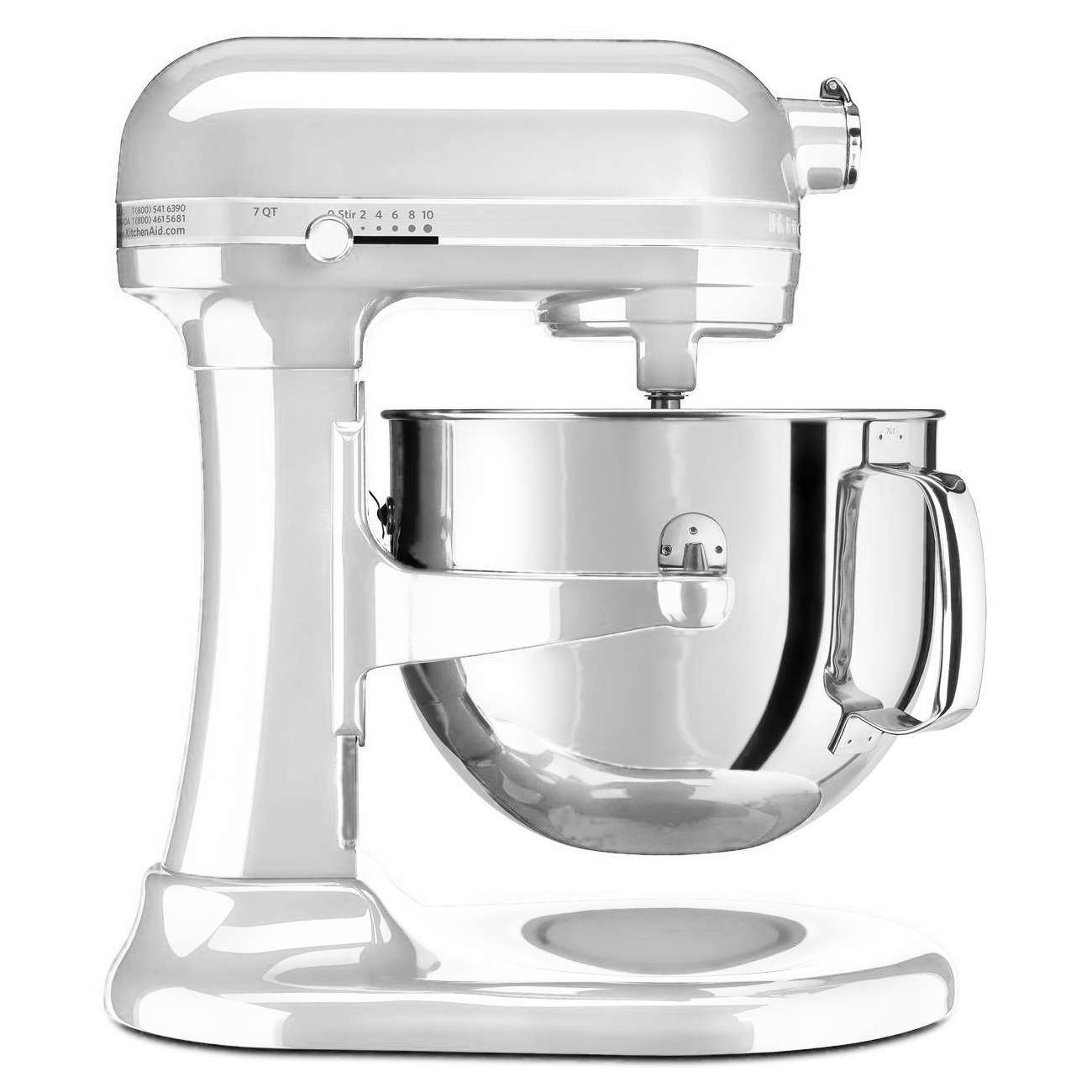 KitchenAid Pro Line Series Frosted Pearl White 7 Quart Bowl Lift Stand Mixer