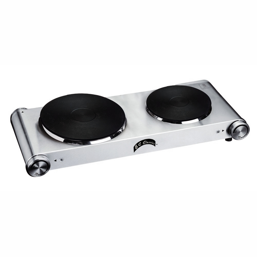 B C Classics Stainless Steel Portable Double Burner