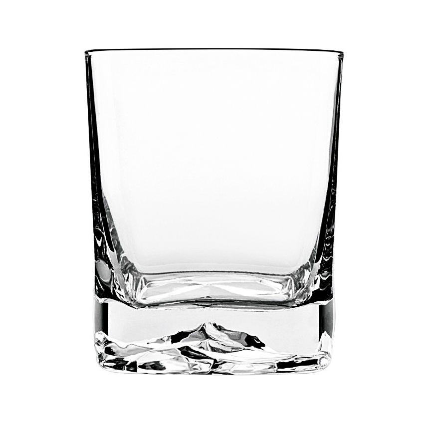 Luigi Bormioli Strauss On The Rocks 13.5 Ounce DOF Glass, Set of 4