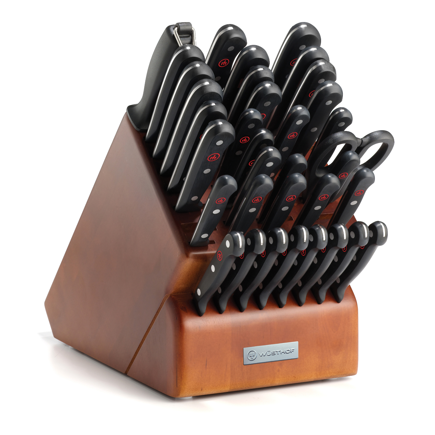Wusthof Gourmet High Carbon Steel 36 Piece Knife and Cherry Wood Block Set