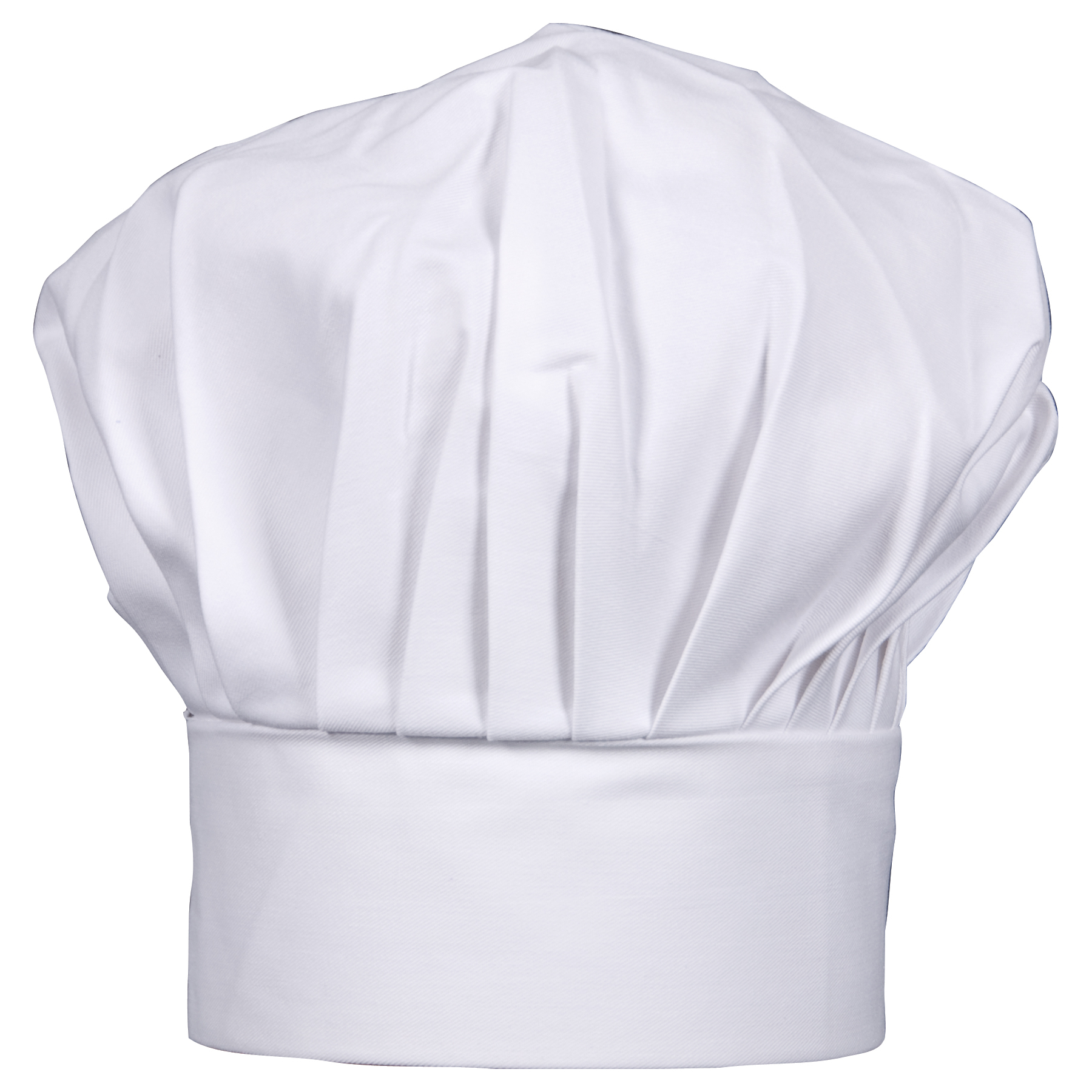 HIC Harold Import Co White Cotton 6 x 8 Inch Adult Size Chef Hat