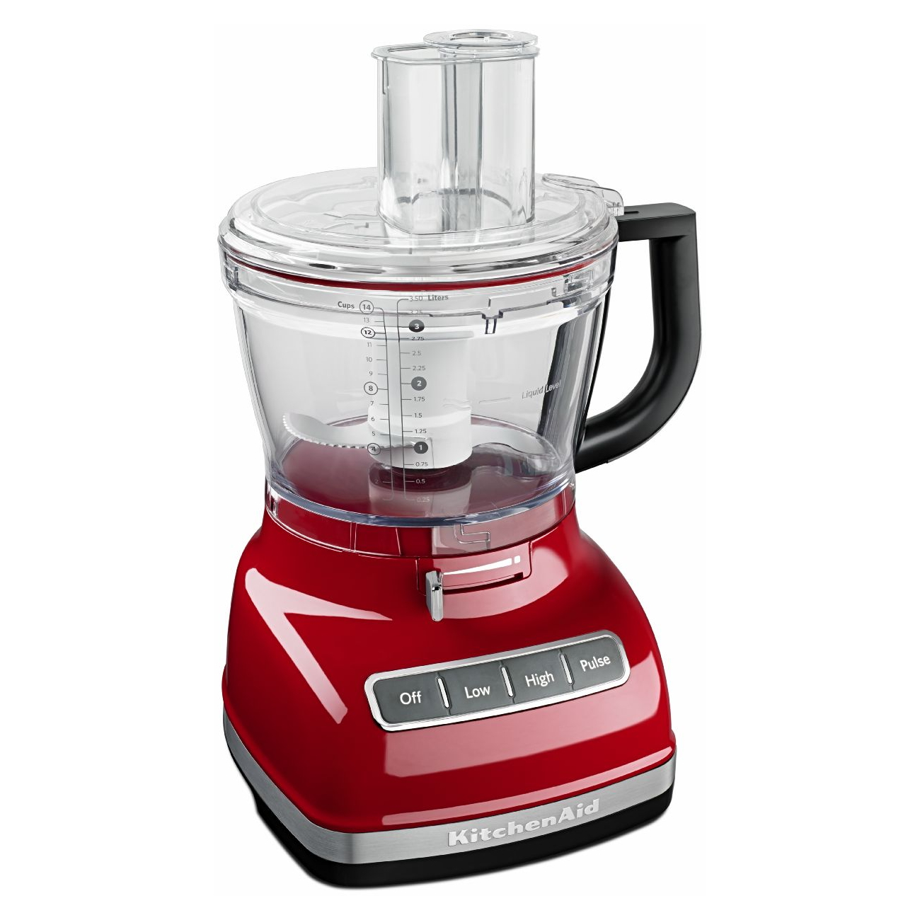 KitchenAid Empire Red 14 Cup Food Processor with ExactSlice System and Dicing Kit