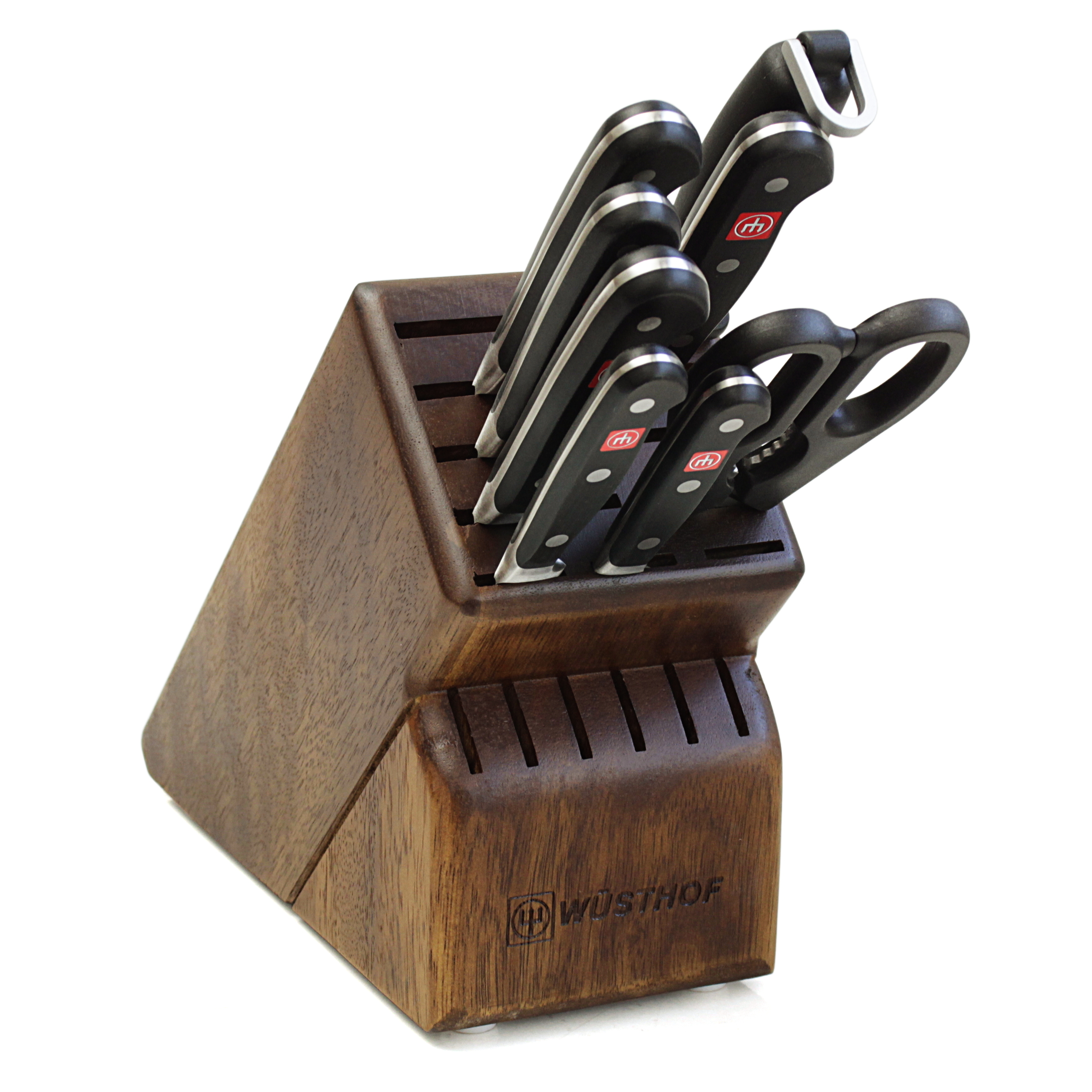 Wusthof Classic 10 Piece Knife and Walnut Block Bundle - BigKitchen Exclusive