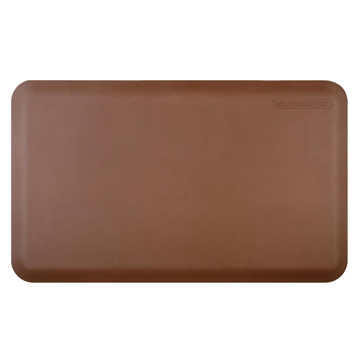 WellnessMats Brown Standard Anti-Fatigue Mat, 3 x 2 Foot
