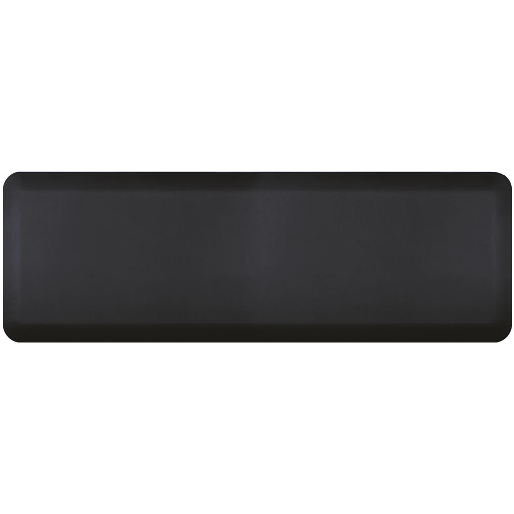WellnessMats Black Standard Anti-Fatigue Mat, 6 x 2 Foot