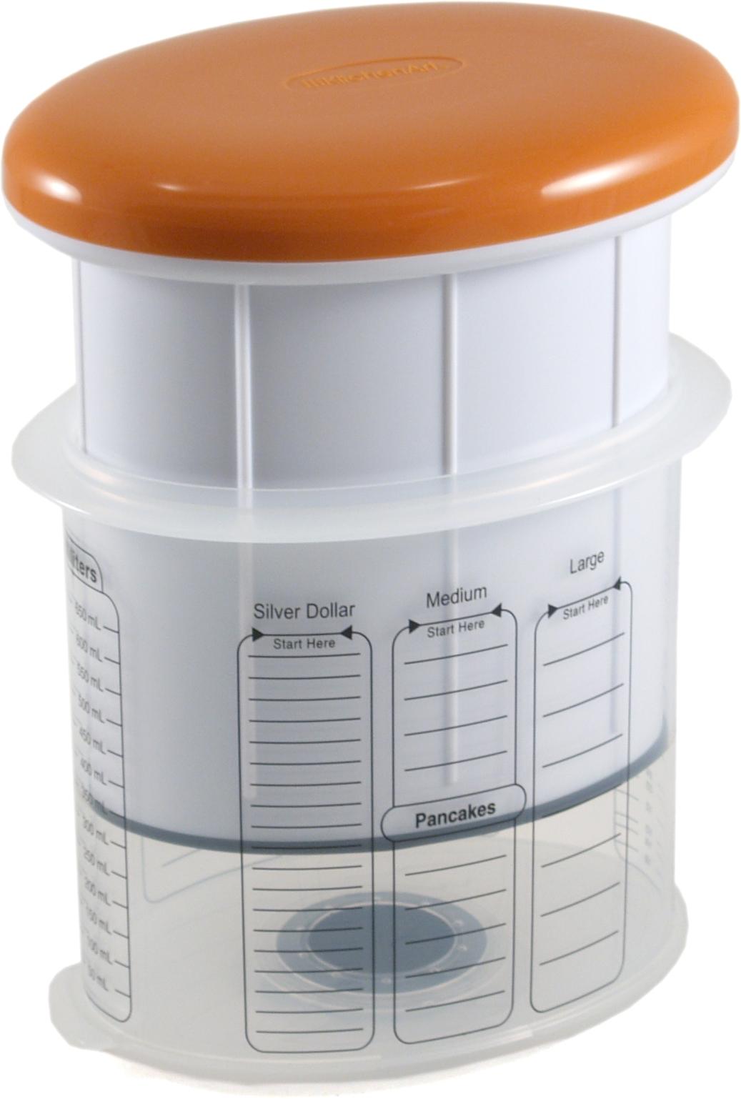 Kitchen Art White and Orange Plastic Batter Pro