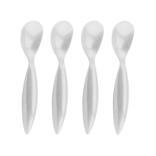 Zak Designs White Ice Cream Spoon, Set of 4