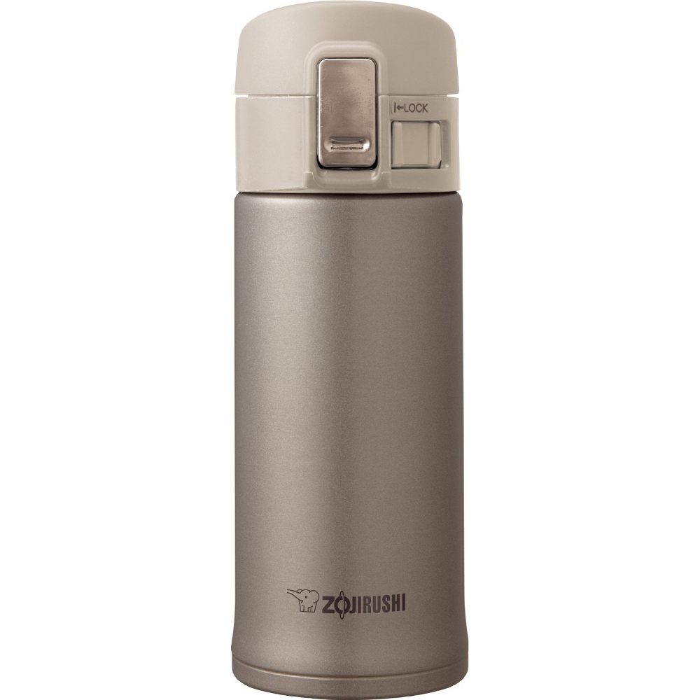 Zojirushi Champagne Stainless Steel Vacuum Insulated Flip Top Mug, 12 Ounce