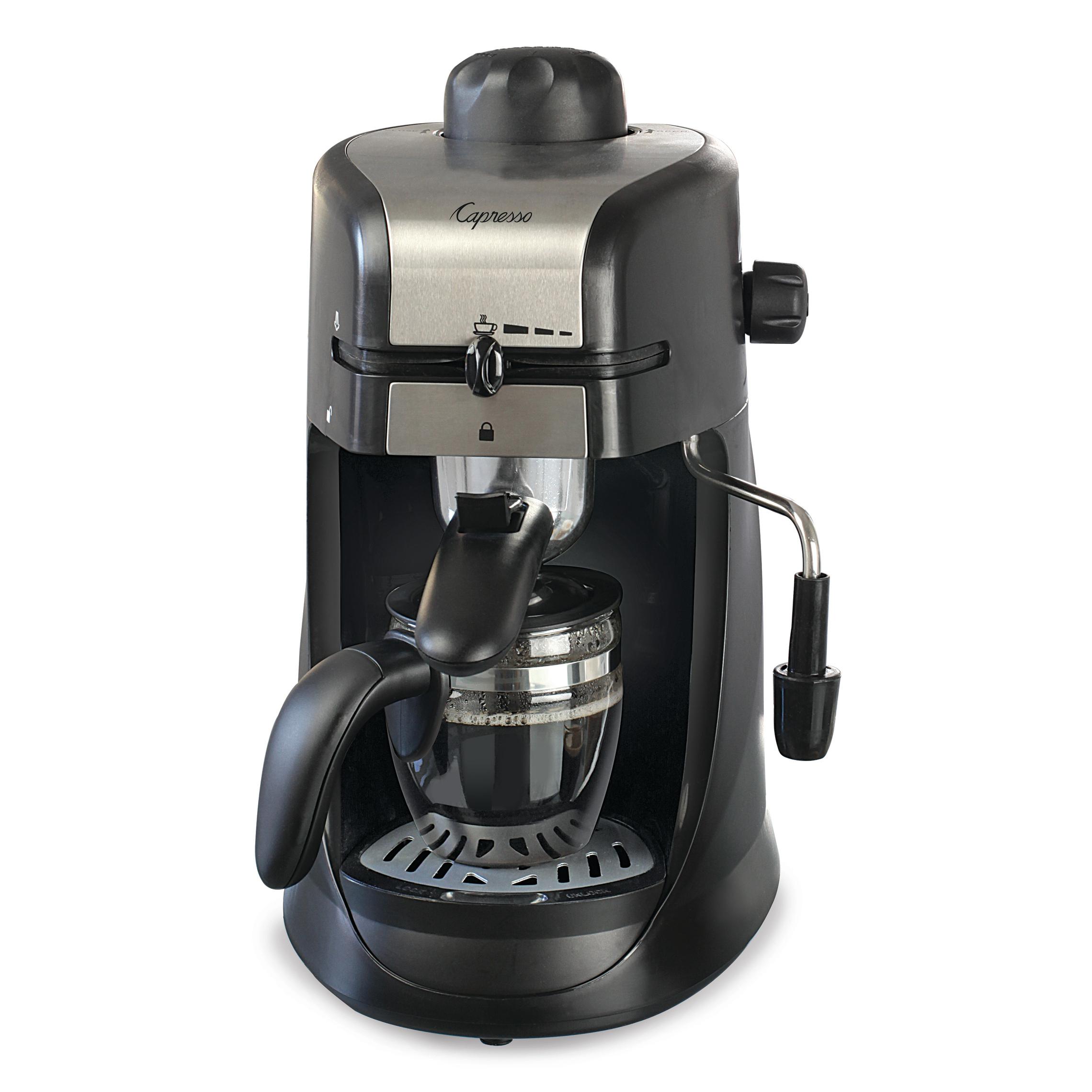 Capresso 304.01 Steam Pro Black Espresso and Cappuccino Machine, 4 Cup