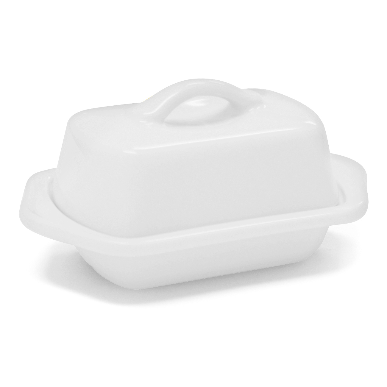 Chantal Glossy White Stoneware Mini 5 Inch Butter Dish