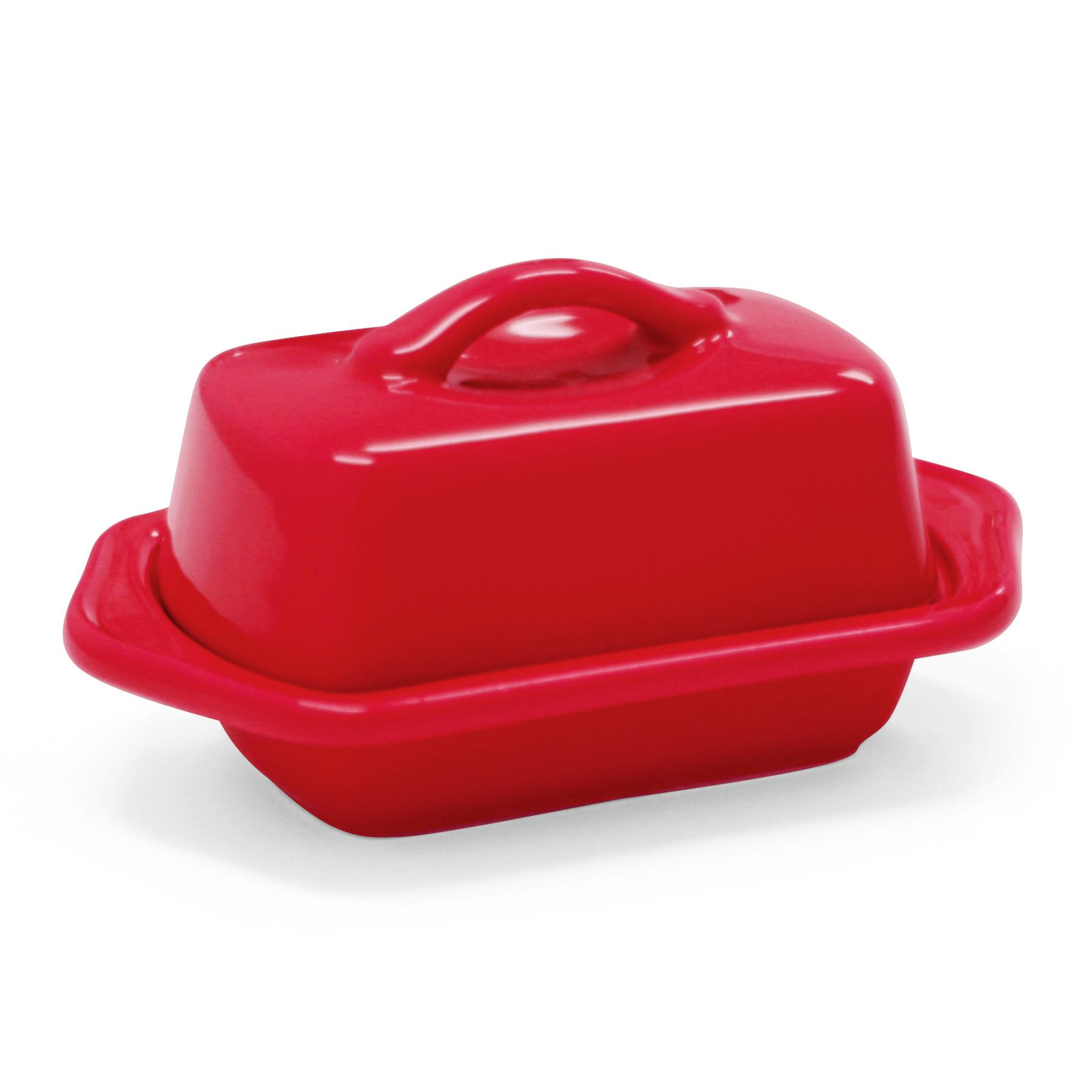 Chantal True Red Stoneware Mini 5 Inch Butter Dish